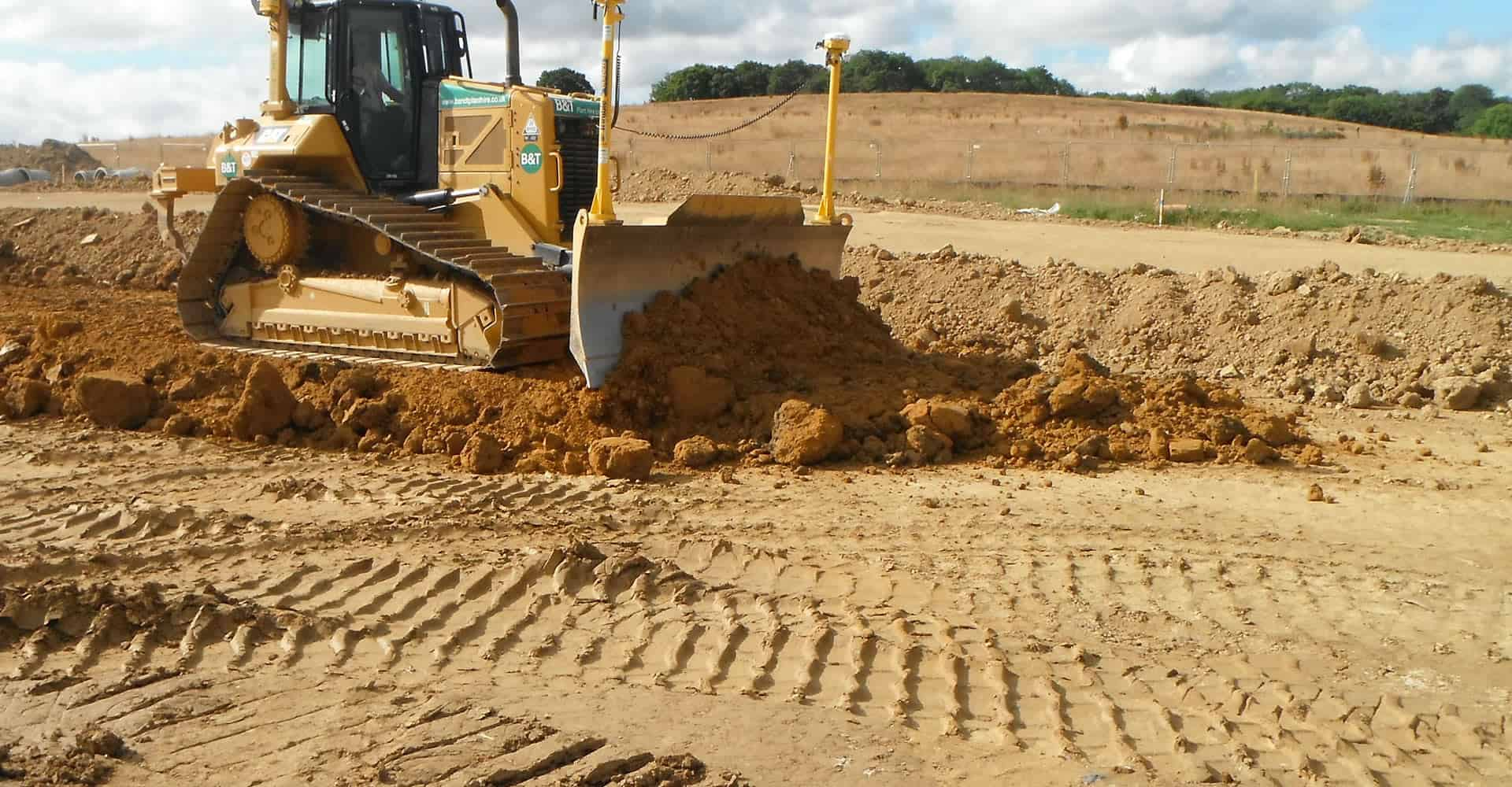 Carrying out earthworks